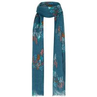 Alverton Patterned Scarf Deep Sea Blue