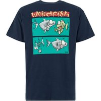 Weird Fish Lunch Artist T-Shirt Black Iris Size S