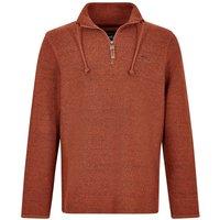 Weird Fish Skipper 1/4 Zip Classic Macaroni Sweatshirt Brick Orange Size 5XL