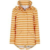 Weird Fish Arlene Fully Waterproof Striped Jacket Saffron Size 12