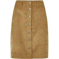 Weird Fish Winny Cord Skirt Camel Size 18