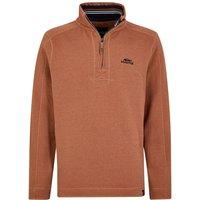 Weird Fish Alyth 1/4 Zip Sweatshirt Brick Orange Size 4XL