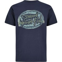 Weird Fish Big Bang Branded T-Shirt Black Iris Size XL
