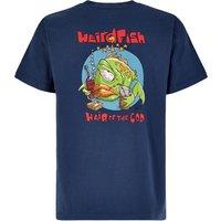 Weird Fish Hair Of The Cod Artist T-Shirt Ensign Blue Size 3XL