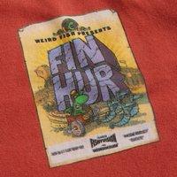 Weird Fish Fin Hur Artist T-Shirt Cranberry Size L