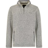 Weird Fish Strabane Knitted Texture Bonded Borg Grey Size L
