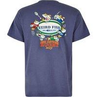 Weird Fish Fish Nations Artist T-Shirt Blue Indigo Size M