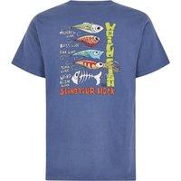 Weird Fish Sling Your Hook Artist T-Shirt Blue Indigo Size 2XL