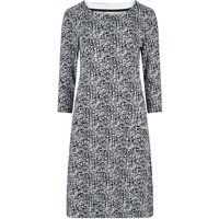 Weird Fish Starshine Printed Jersey Dress Indigo Size 16
