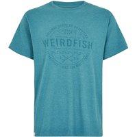 Weird Fish Surplus Applique T-Shirt Harbour Blue Marl Size 4XL