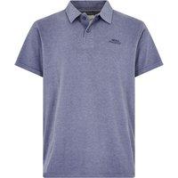 Weird Fish Quay Branded Polo Shirt Blue Indigo Marl Size L