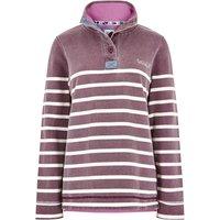 Weird Fish Hansley 1/4 Neck Striped Sweatshirt Purple Potion Size 14