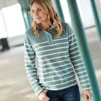 Weird Fish Hansley 1/4 Neck Striped Sweatshirt Arona Size 14