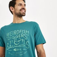 Weird Fish Riggers Branded Graphic T-Shirt Harbour Blue Size 3XL