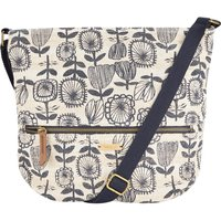 Weird Fish Reya Printed Cross Body Bag Chalk Size ONE