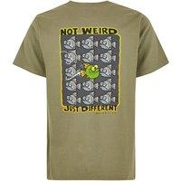 Weird Fish Just Different Artist T-Shirt Khaki Green Size 2XL