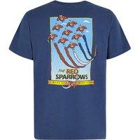 Weird Fish Red Sparrows Artist T-Shirt Blue Indigo Size 5XL