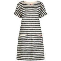 Weird Fish Brit Stripe Jersey Dress Honeydew Size 20