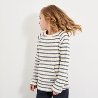 Weird Fish May Stripe Crew Slub Top Dark Navy (Size Age 14) Size 14