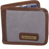 Weird Fish Indo Waxed Canvas Wallet Grey Size ONE