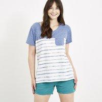 Weird Fish Paros Pocket T-Shirt Ultramarine Size 8