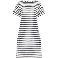 Weird Fish Etta Striped Jersey Dress Light Cream Size 22