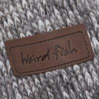 Weird Fish Jones Fur Lined Chunky Knit Jacket Dark Grey Size L