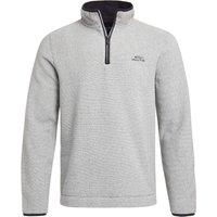 Weird Fish Errill 1/4 Zip Textured Fleece Sweatshirt Ecru Size 4XL