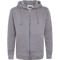 Weird Fish Rapid Full Zip Fleece Lined Hoody Frost Grey Size 2XL