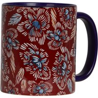 Weird Fish Glenveagh Floral Two Tone Printed Mug Chilli Red Size ONE