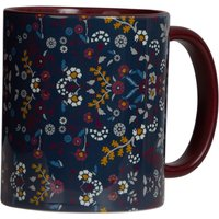 Weird Fish Glenveagh Floral Two Tone Printed Mug Navy Size ONE