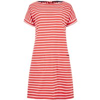 Weird Fish Etta Striped Jersey Dress Radical Red Size 14