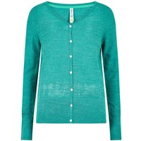 Weird Fish Curran Plain Cotton Cardigan Deep Teal Size 10