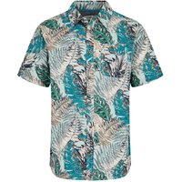 Weird Fish Dashbeck Short Sleeve Hawaiian Print Shirt Lead Size 2XL