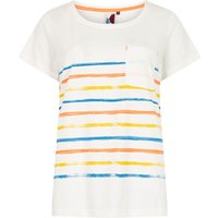 Weird Fish Faith Striped T-Shirt Light Cream Size 12
