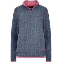 Weird Fish Beyonce 1/4 Zip Grid Fleece Sweatshirt Navy Size 10