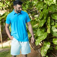 Weird Fish Murrisk Relaxed Casual Shorts Ice Blue Size 38