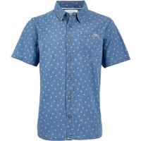 Weird Fish Salterton Short Sleeve Denim Jacquard Shirt Denim Size 3XL