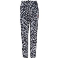 Weird Fish Tinto Patterned Harem Trousers Dark Navy Size 22