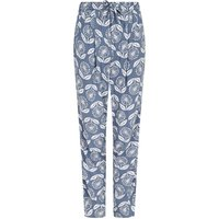 Weird Fish Tinto Patterned Harem Trousers Light Denim Size 22