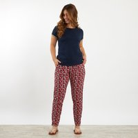 Weird Fish Tinto Patterned Harem Trousers Radical Red Size 14