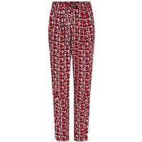 Weird Fish Tinto Patterned Harem Trousers Radical Red Size 16