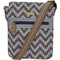 Weird Fish Halle Textured Cross Body Bag Dark Navy Size ONE