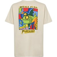 Weird Fish Fishcasso Back Print Artist T-Shirt Oyster Size 3XL
