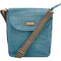 Weird Fish Loula Plain Cross Body Bag Deep Teal Size ONE