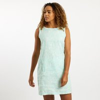 Weird Fish Elliana Printed Linen Dress Honeydew Size 12