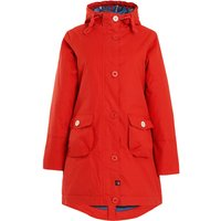 Weird Fish Beatrix Waxed Finish Waterproof Coat Burnt Orange Size 22