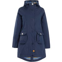 Weird Fish Beatrix Waxed Finish Waterproof Coat Navy Size 14