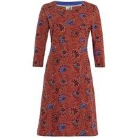 Weird Fish Starshine Printed Jersey Dress Burnt Orange Size 14