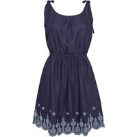 Weird Fish Cordoba Strappy Embroidered Dress Navy Size 16